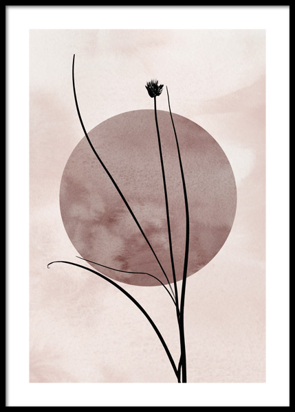 Straw Silhouette Poster