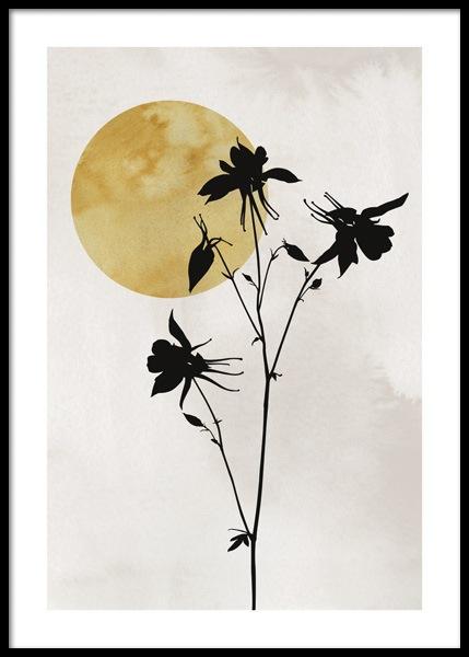 Flower Silhouette Poster