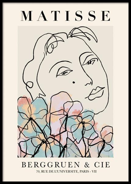 Matisse Floral No1 Poster