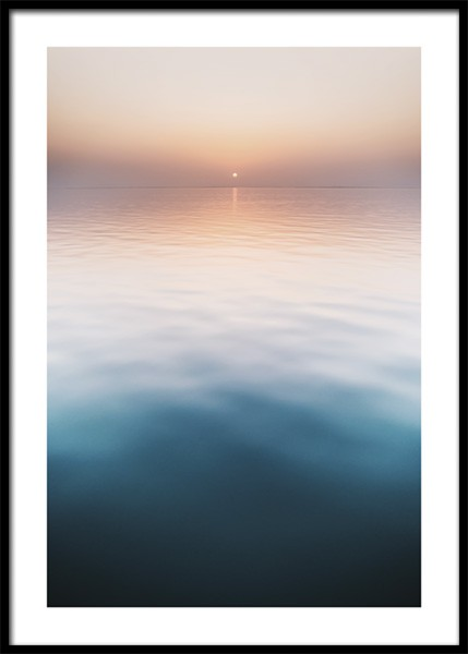 Sunset Water Surface Poster
