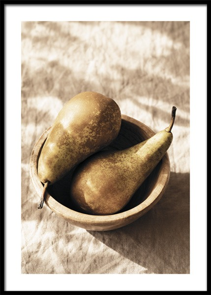 Pears In The Sun No2 Poster