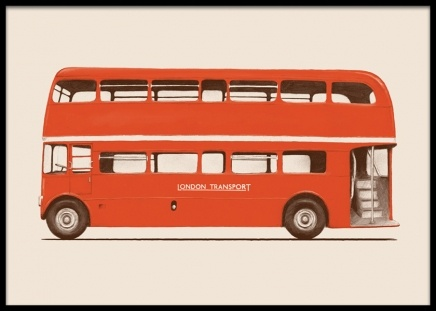 Double Decker Bus Poster i gruppen Posters / Illustrationer hos Desenio AB (14880)