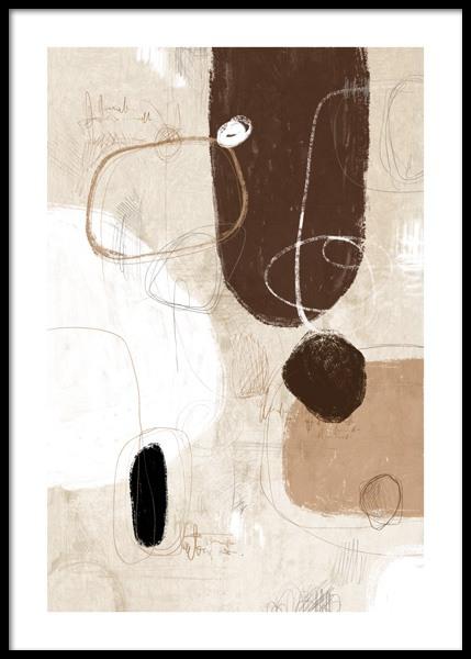 Art Shapes No1 Poster