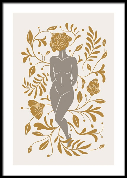 Flower Woman No1 Poster