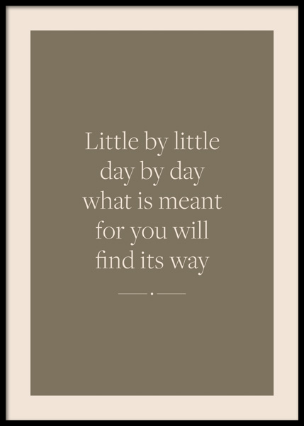 Little By Little Poster