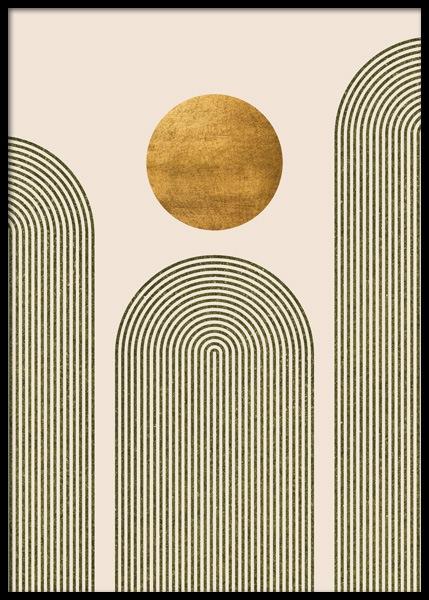 Green & Gold No2 Poster