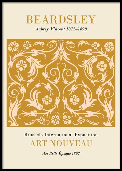 Art Nouveau Floral Poster