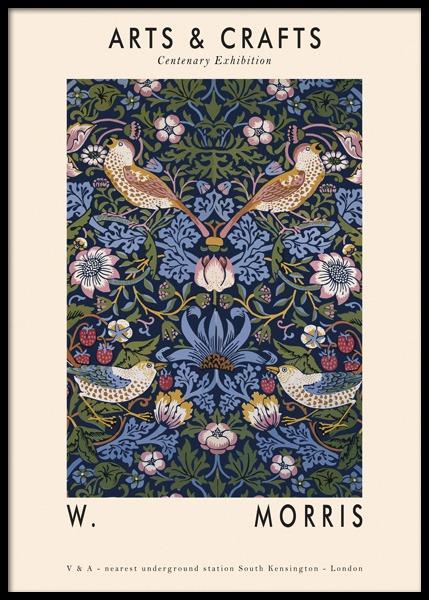 Arts & Crafts Floral Poster
