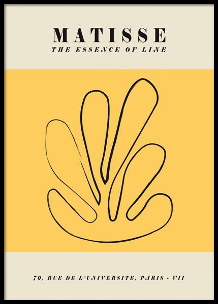 Yellow Matisse Inspired Poster