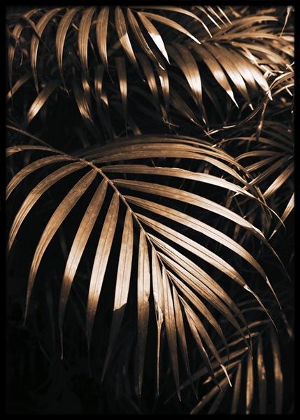 Golden Botanic Poster