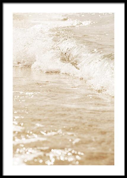 Beige Sea Poster