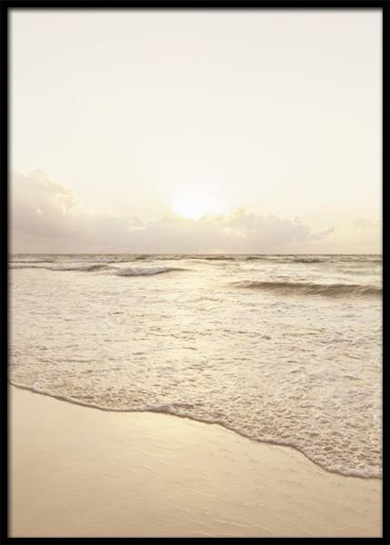 Golden Hour Beach Poster