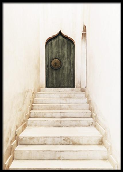 Marrakech Green Door Poster