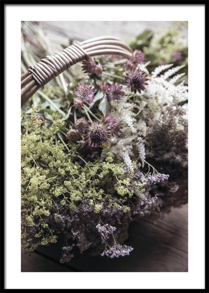 Botanical Basket Poster