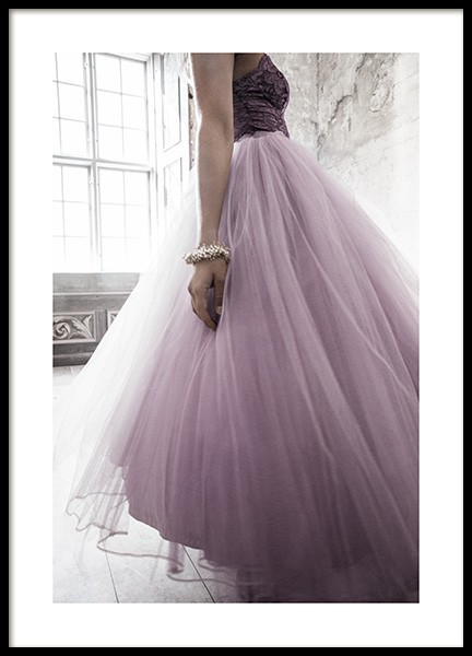 Lilac Twirl Poster