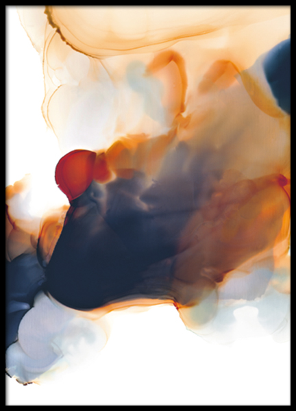 Abstract Color Flow No2 Poster