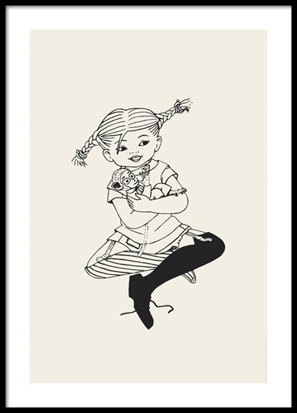 Pippi Långstrump No2 Poster