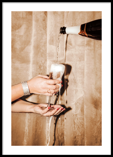 Bubbly Champagne Poster