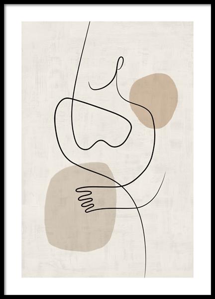 Line Art Figures No1 Poster