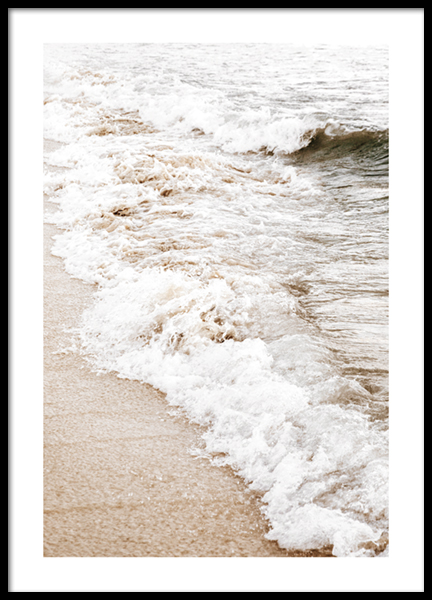 Sand And Waves Poster