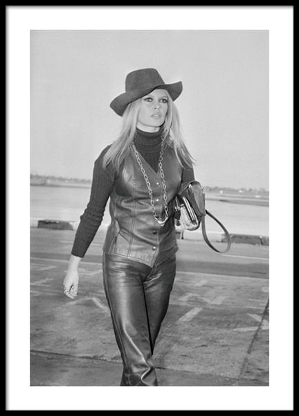 Brigitte Bardot BW Poster