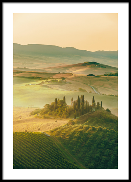 Tuscany Hills Poster