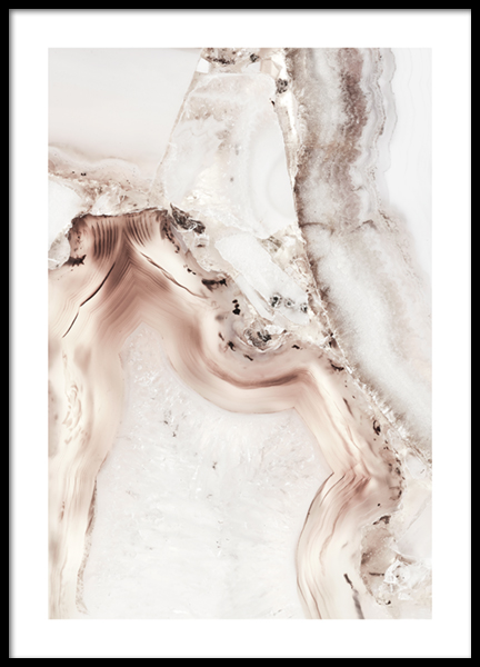 Abstract White Minerals Poster