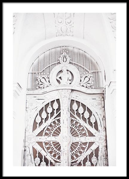 White Architecture Poster