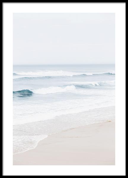 Atlantic Ocean Beach Poster