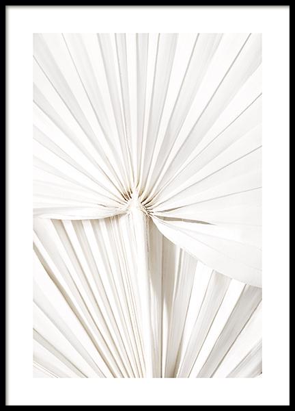White Leaves Poster