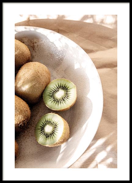 Bowl of Kiwis Poster