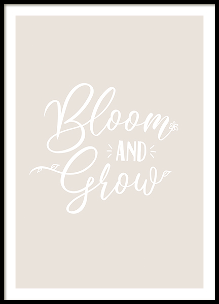 Bloom and Grow Poster