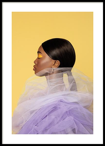Purple Profile Poster