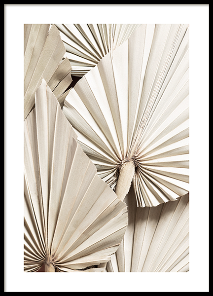 Pleated Palm Poster