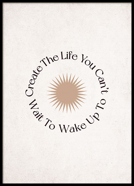 Create the Life Poster