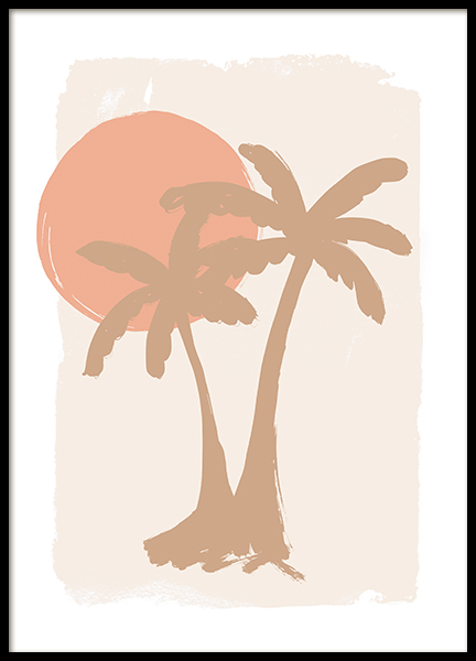 Painted Palm Trees Poster