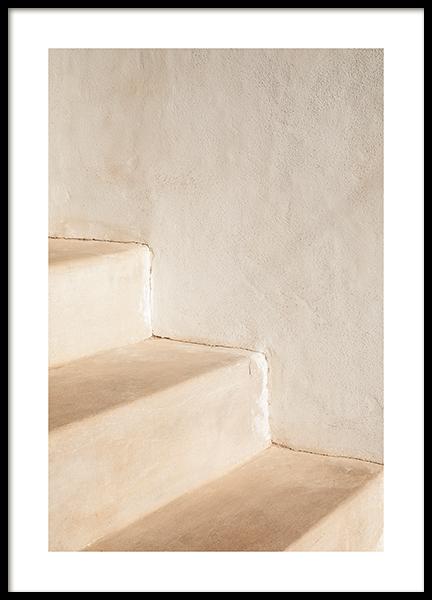 Beige Steps Poster