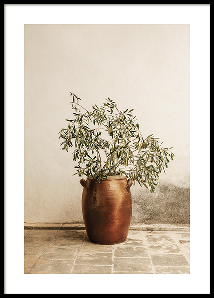 Rustic Olive Branch Poster