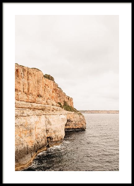 Mallorca Cliff Poster