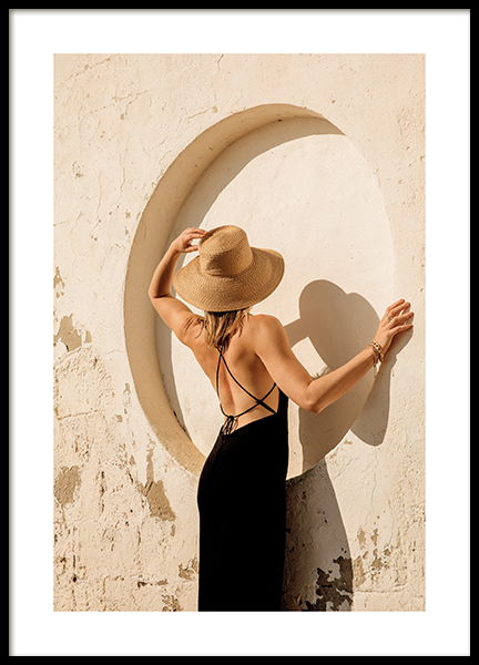 Woman In Circle Poster