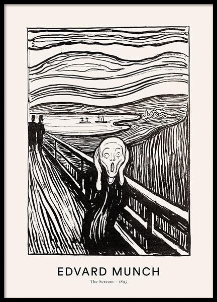 Edvard Munch - The Scream Poster