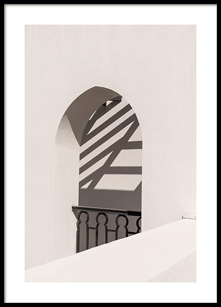 Beige Arch Poster
