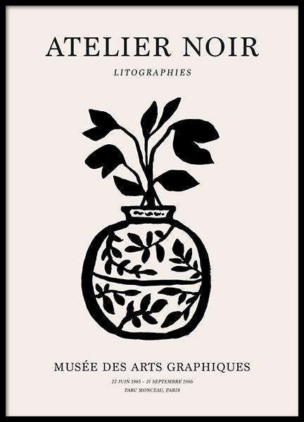 Black Vase Poster