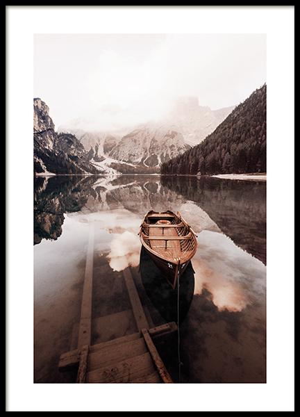 Calming Lake Poster