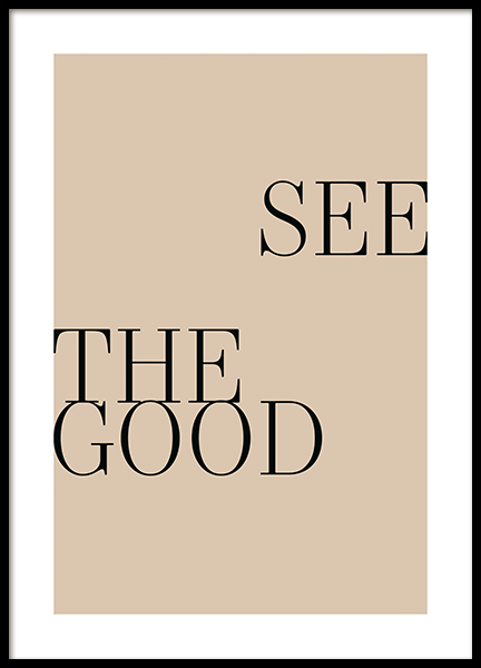 See the Good Beige Poster