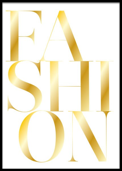 Fashion Gold Poster i gruppen Posters / Guld & silver hos Desenio AB (2209)