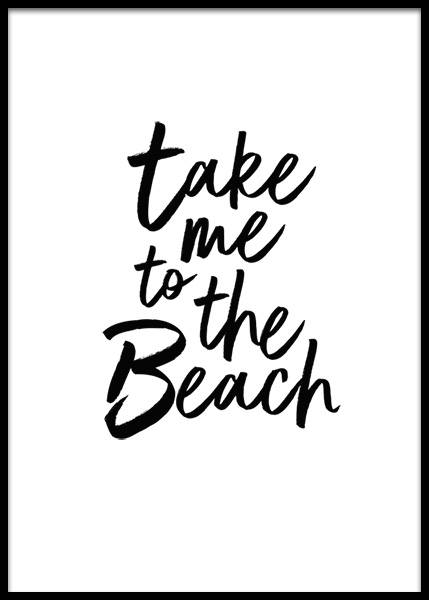 Take Me To The Beach Poster i gruppen Posters  / Texttavlor hos Desenio AB (2253)