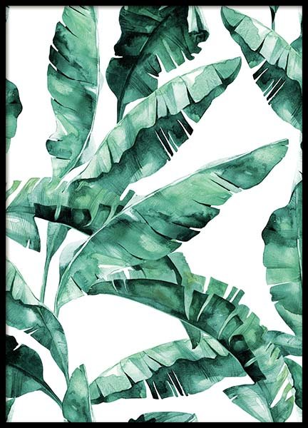 Banana Leaves Pattern Poster