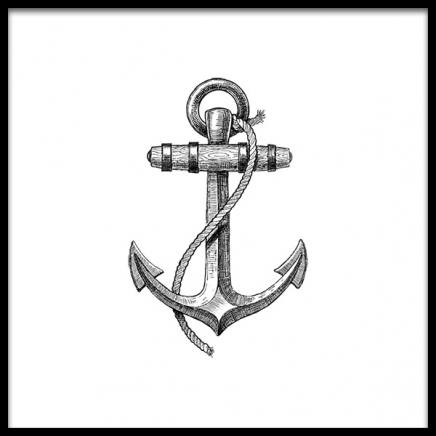 Anchor B&W Poster i gruppen Posters  / New England hos Desenio AB (2309)