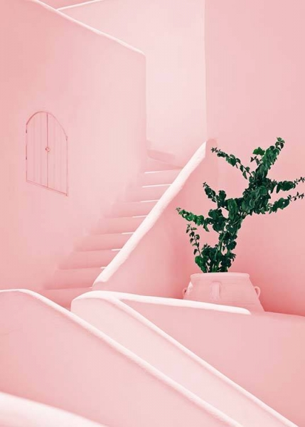 Pink stairs Poster i gruppen Posters  / Storlekar / 50x70cm hos Desenio AB (2425)